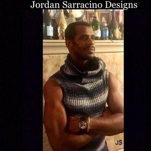 Jordan Sarracino Designs knit zip wide neck vest
